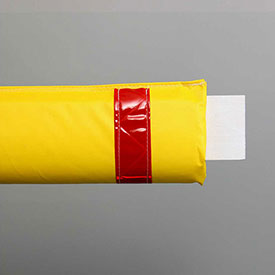 "72""W Soft Nylon Gate Arm Cover - Yellow Cover/Red Tapes - Pkg Qty 6"
