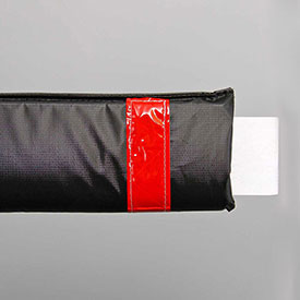 "108""W Soft Nylon Gate Arm Cover - Black Cover/Red Tapes - Pkg Qty 6"