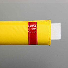 """108""""W Soft Nylon Gate Arm Cover - Yellow Cover/Red Tapes - Pkg Qty 6"""