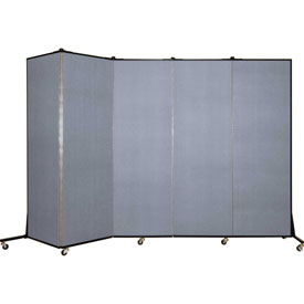 Screenflex 5 Panel Mobile Room Divider - Fabric Color: Light Blue