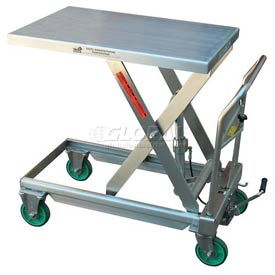 Vestil Stainless Steel Mobile Scissor Lift Table CART-550-SS 550 Lb. Capacity