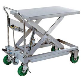 Vestil Stainless Steel Mobile Scissor Lift Table CART-1100-SS 1100 Lb. Capacity