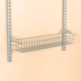 "Storability 15"" Wire Basket With Lock On Brackets"