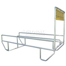 "VersaCart® Double Outdoor Shopping Cart Corral with Divider 12'L x 60""W"