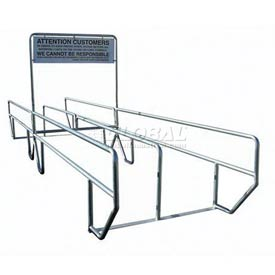 "VersaCart Dual Access Double Outdoor Shopping Cart Corral with Divider 24'L x 60""W"