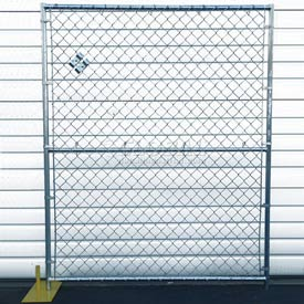 Chain Link Fence, Powder Coat Finish - 5'Wx6'H 4 Panel Kit