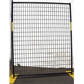 Welded Wire Black Powder Coat Fence - 5'Wx6'H 4 Panel Kit