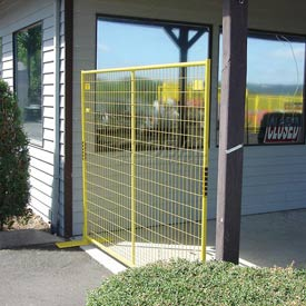 "Perimeter Patrol™ Welded Wire Yellow Powder Coat Fence - 7'6""Wx6'H 8 Panel Kit"