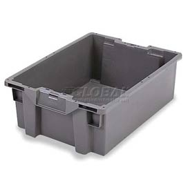 ORBIS Stack-N-Nest Pallet Container GS6040-27 - 23-5/8 x 15-3/4 x 10-3/4 Gray - Pkg Qty 5