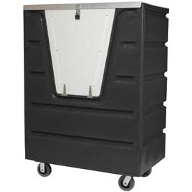 Dandux Black Recycled Plastic Hopper Front Security Bulk Truck 511460SX 38 Cu. Ft. Cap.
