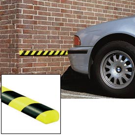 "Surface Bumper Guard, Type C, 39-3/8""L x 1-9/16""W, Black-Fluorescent/Photoluminescent"
