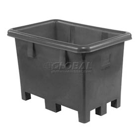 "Dandux Black Recycled Plastic Pallet Container 512026X Single Wall  - 43""L x 28""W x 29""H"