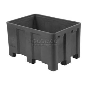 "Dandux Black Recycled Plastic Skid Container 512126X Double Wall  - 54""L x 44""W x 31""H"