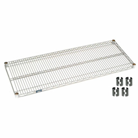 "Nexel S2460S Stainless Steel Wire Shelf 60""W x 24""D with Clips"