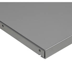"72"" W x 30"" D x 1-3/4"" Thick Steel Square Edge Workbench Top, 12 Gauge Steel, Gray"