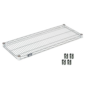 "Nexel S1436C Chrome Wire Shelf 36""W x 14""D with Clips"