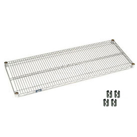 "Nexel S1472C Chrome Wire Shelf 72""W x 14""D with Clips"