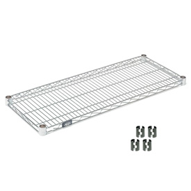 "Nexel S2424C Chrome Wire Shelf 24""W x 24""D with Clips"