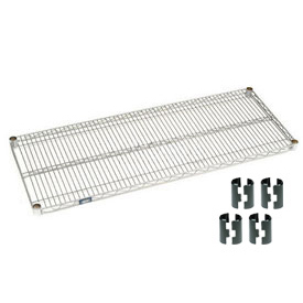 "Nexel S2436C Chrome Wire Shelf 36""W x 18""D with Clips"