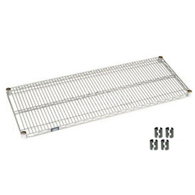 "Nexel S2454C Chrome Wire Shelf 54""W x 24""D with Clips"