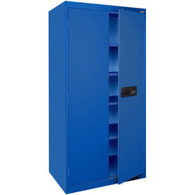 Sandusky Elite Series Keyless Electronic Storage Cabinet EA4E361872 - 36x18x72, Blue