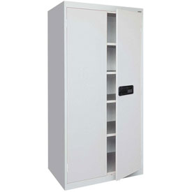 Sandusky Elite Series Keyless Electronic Storage Cabinet EA4E362472 - 36x24x72, Gray