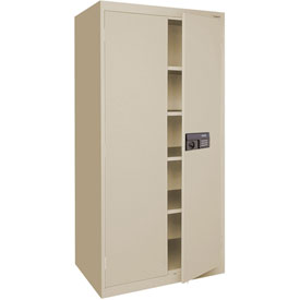 Sandusky Elite Series Keyless Electronic Storage Cabinet EA4E362478 - 36x24x78, Putty