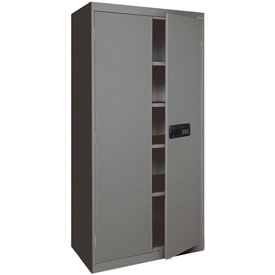 Sandusky Elite Series Keyless Electronic Storage Cabinet EA4E462472 - 46x24x72, Charcoal