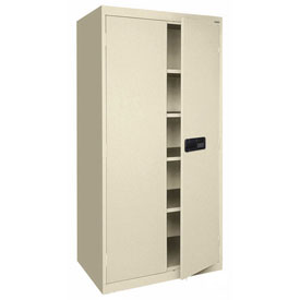 Sandusky Elite Series Keyless Electronic Storage Cabinet EA4E462478 - 46x24x78, Putty