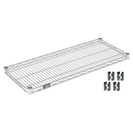 "Nexel S1424C Chrome Wire Shelf 24""W x 14""D with Clips"