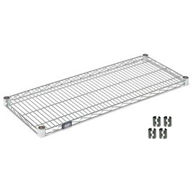 "Nexel S1448C Chrome Wire Shelf 48""W x 14""D with Clips"