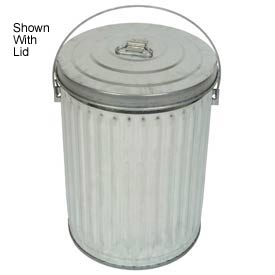 Galvanized Garbage Can - 10 Gallon Medium Duty