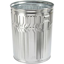 Galvanized Garbage Can - 32 Gallon Commercial Duty