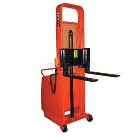"Wesco® Battery Powered Lift Counter Balanced Stacker 261098 76""H 30"" Forks"