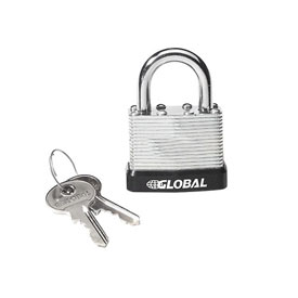 General Security Laminated Steel Padlock with Bumper and Two Keys - Keyed Alike