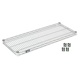 "Nexel S2472C Chrome Wire Shelf 72""W x 24""D with Clips"