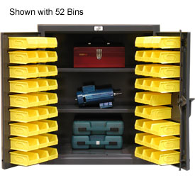 Strong Hold® Heavy Duty Counter Top Bin Cabinet 33.5-BS-242 - With 52 Bins 36x24x42