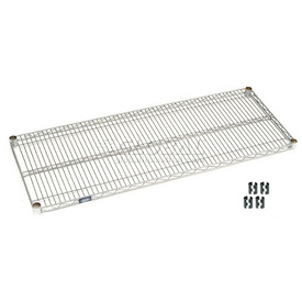 Stainless Steel Wire Shelf 48 x 18 With Clips