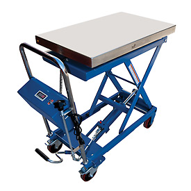 Vestil Mobile Scissor Lift Table with Integral Scale CART-500-SCL 500 Lb. Cap. by