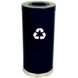 "Steel Recycling Container Black 15""Dia x 32""H"