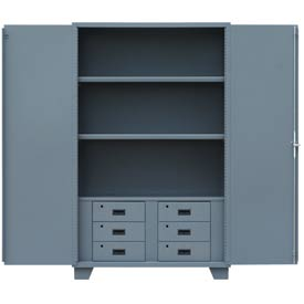 "Global™ Heavy Duty Cabinet HG248 Solid Door with Drawers, Welded 48""W x 24""D x78""H"