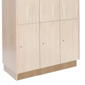 Hallowell WCB328W-RO Wood Club Locker Base 36x18x4 Red Oak