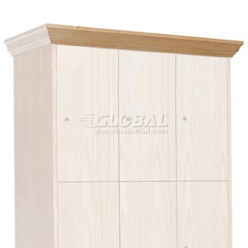 Hallowell WCM36W-RO Wood Club Locker Front Crown Molding 36x4 Red Oak