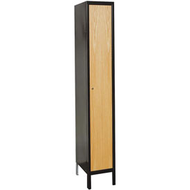 Hallowell UW1588-1MEW Wood/Metal Hybrid Locker Single Tier 15x18x72 1 Door Ready to Assemble