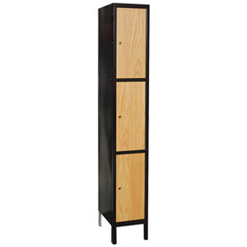 Hallowell UW1288-3A-MEW Wood/Metal Hybrid Locker Triple Tier 12x18x24 3 Door Assemble
