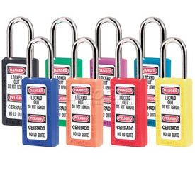 Master Lock® Safety 411 Series Zenex™ Thermoplastic Padlock, Assorted Colors, 411AST