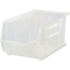 Quantum Ultra Stack and Hang Bin QUS242CL 8-1/4 x 13-5/8 x 8 Clear - Pkg Qty 12