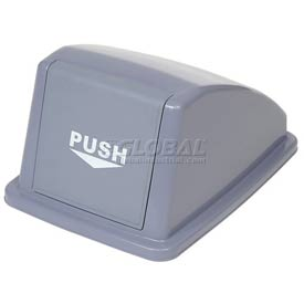 "Global Industrial™ Recycling Trash Lid - Gray 13""W x 18""D x 9""H"