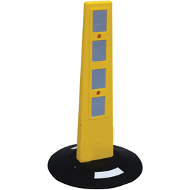Reflective Poly Barricade Bollard Post