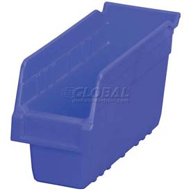 "Akro-Mils ShelfMax® Plastic Shelf Bin Nestable 30040 - 4-1/8""W x 11-5/8""D x 6""H Blue - Pkg Qty 16"